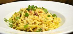 Delicious pasta carbonara