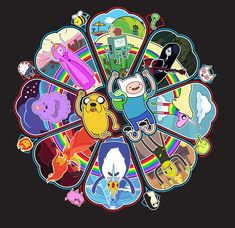 """Wheel of Adventure"" Adventure Time shirt - Imgur"