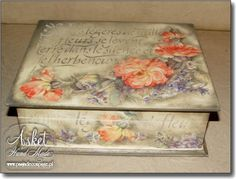 decoupage box! hand made by Asket! lovely
