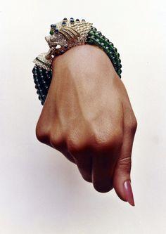 Hiro for Vogue, 1964. Bracelet by David Webb.