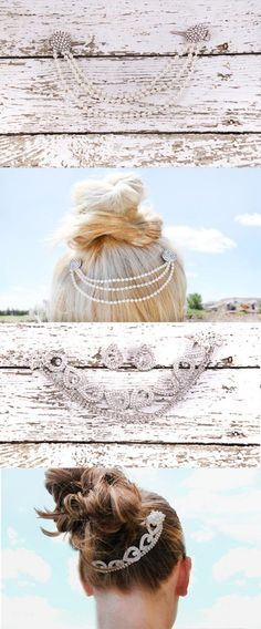DIY Hair Chains: the cutest and easiest hair jewelry of the summer- perfect for wedding hair!