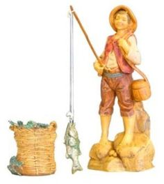 Amazon.com: Fontanini JACOB FISHERMAN Figurine 5 Inch Series: Home & Kitchen