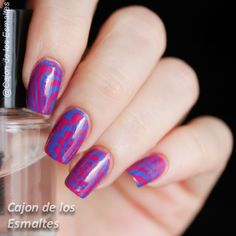 Water-less watermarble nail art :) PUEEN: Fireworks Festival stamping plates @pueen