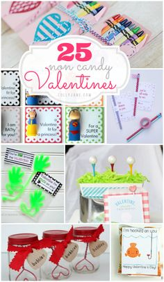 25 non candy Valentines, so cute! Sick of all the candy your kids get on Valentines Day? Try these cute non-candy Valentines ideas! Valentine Day Love, Valentines For Kids, Valentine Day Crafts, Cute Valentine Ideas, Printable Valentine, Homemade Valentines, Valentine Wreath, San Valentin Ideas, Diy Spring