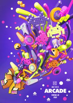 ARCADE by Luca Viola, via Behance  #C4D, #Cinema4D,#3D