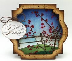 "Kathy from ""thedailymarker"" used spellbinders dies and stickles on the berries"