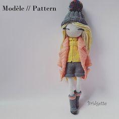 Bridgette Crochet doll pattern by Flaviecrochette on Etsy