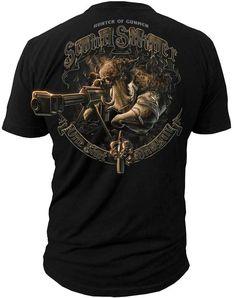 Men's Marines T-Shirt - US Marines H.O.G. Scout Sniper Marines