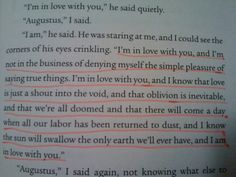 The fault in our stars quote :) (Guys, I'm not lying when I say this made me cry...It's the middle of the book!)