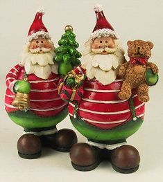 Roly-Poly Santas | Santa Claus Figurines and Hand Carved Wooden Santas