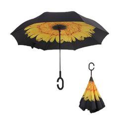 Women's Double Layer Inverted Windproof Folding Reverse Rain Car Umbrellas Fishing Umbrella, Revolution, Best Umbrella, Large Umbrella, Automatic Umbrella, Cuir Vintage, Anti Uv, Home Living, Inside Out