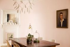 Pale pink is timeless yet still having a moment in interior design. Best Sophisticated, Chic and Subtle Pink Paint Colors points you to the right hues! Pink Paint Colors, Room Colors, Pale Pink Bedrooms, Gray Bedroom, Bedroom Inspo, Master Bedroom, Pantone, Pink Dining Rooms, Living Rooms