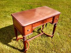 White Sewing Machine Co Mount Vernon library table sewing cabinet, re-finished with a copper veneer on the top