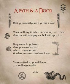 """A Path and a Door"""