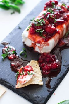 Basil Strawberry and Cream Cheese Appetizer - Recipes Worth Repeating