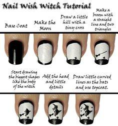DIY Witch Nail Design