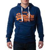 """Ανδρική Μπλούζα Hoodie  """"Super Dry """" Real - Μπλέ #www.pinterest.com/brands4all"""