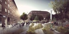 First climate adapted neighborhood   Copenhagen Denmark   TREDJE NATUR