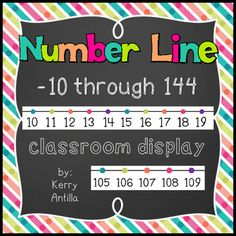 This number line starts at negative 10, giving young students exposure to the idea of negative numbers. With the included numberline you have the choice of stopping at 100 or at 120.This number line includes the option to stop at 100 or at 120.
