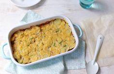 Aardappelovenschotel met gehakt en prei