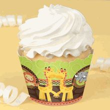 Twins Funfari™ - Fun Safari Jungle -  Baby Shower Cupcake Wrappers