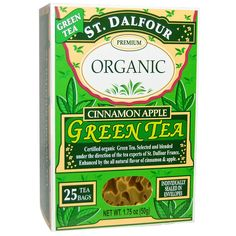 St. Dalfour, Green Tea, Cinnamon Apple, 1.75 oz (50 g), 25 Tea Bags - 2pcs * Be sure to check out this awesome product. (This is an affiliate link and I receive a commission for the sales)