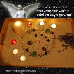 Grand kit complet autel de cristal des anges gardiens