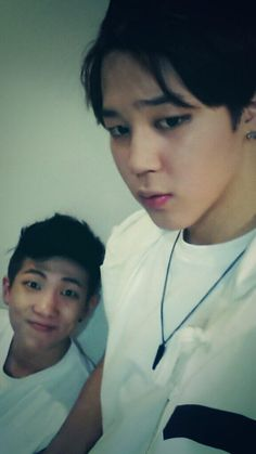 Jimin with RapMonster - BTS