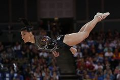 Romania's gymnast Catalina Ponor performs during the women's floor exercise