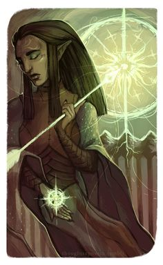 """""""Wheel of Fortune"""", Dalish Rogue Inquisitor, by thoughtsupnorth"""