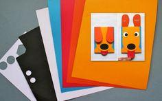 Щенок — игрушка из картона и бумаги