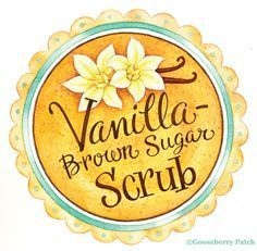 An easy recipe for Vanilla-Brown Sugar Scrub and a printable label/gift tag. This scrub will leave skin smooth and glowing...add a drizzle of honey for extra moisturizing!
