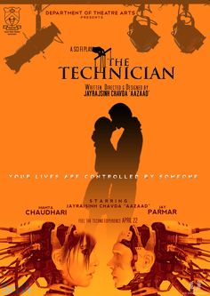 Inspired by Luigi Pirandello and his 'Six Characters in Search of an Author', The Technician focusses on characters broken out of their 'scene' by a stage lighting change instigated by the mysterious technician running the show.