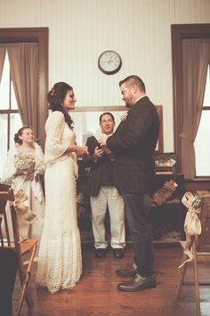 joanne + paul   vintage BHLDN Wedding Gown   #BHLDNbride