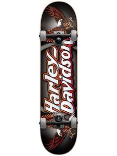 Darkstar Script Harley-Davidson® Silver 7.25 First Push Premium Complete Skateboard MID