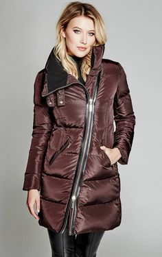 A must-have for colder weather: The Sabrina Long Puffer Coat | MARCIANO.com