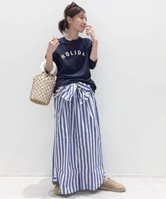 Women Wear, Stripes, Shirt Dress, Womens Fashion, Casual, How To Wear, Outfits, Dresses, Style
