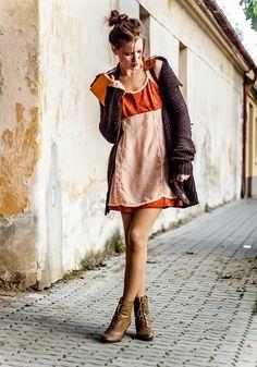 Get this look: http://lb.nu/look/8557521  More looks by Petra Butkova: http://lb.nu/petrabutkova  Items in this look:  Ihlow Dress   #casual #elegant #vintage #orange #dress #book #ihlow #handmade