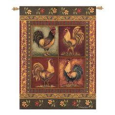 Found it at Wayfair - Mediterranean Rooster Tapestry