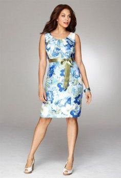 $40.00 'Avenue Plus Size Belted Floral Dress' on Wish,
