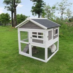 Indoor Rabbit House, Rabbit Hutch Indoor, Bunny Cages, Bunny Rabbits, Cute Small Animals, Ferret Cage, Rabbit Hutches, Animal House, Outdoor Projects