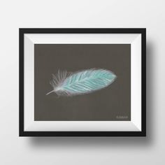 Teal Angel Feather