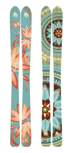 Wagner Custom Ski Graphics by Laura Kottlowski, via Behance