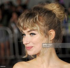 Actress Imogen Poots arrives to the Los Angeles premiere of 'That Awkward Moment' at Regal Cinemas L.A. Live on January 27, 2014 in Los Angeles, California.