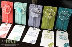 7/14/2011; Rosemarie at 'Rose's World' blog; Petite Pocket Bigz XL Die and Button Buddies stamp set from Stampin' Up!