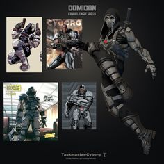Comicon Challenge 2015 | Taskmaster Cyborg by SpiritoID