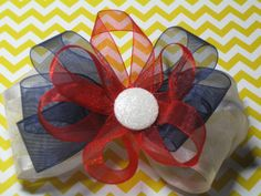 Hey, I found this really awesome Etsy listing at https://www.etsy.com/listing/207145008/red-white-blue-hairbow-hair-bow