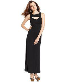 Bar III Dress, Sleeveless High-Neck Cutout Maxi - Pants - Women - Macy's