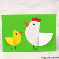weihnachten malen Paper Circle Hen and Chick Craft Easter Card Idea Crafts for Kids, Coloring pages, How to Draw TutorialsPaper Circle Hen and Chick Craft Easter Card IdeaWe love simple and easy and this Pa Crafts For Teens To Make, Animal Crafts For Kids, Paper Crafts For Kids, Craft Activities For Kids, Preschool Crafts, Fun Crafts, Craft Ideas, Shape Crafts, Adult Crafts