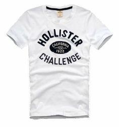 341fde7a Hollister Graphic Cotton Men's T-shirt, Latest Edition - White (M): Amazon. co.uk: Clothing